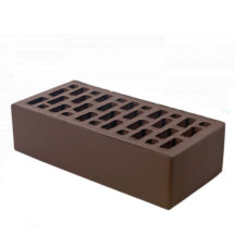 Керамический кирпич BRAER темно-коричневый гладкий 250x120x65
