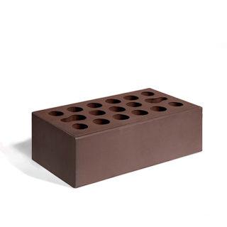 Керамический кирпич Керма шоколад гладкий 250x120x88