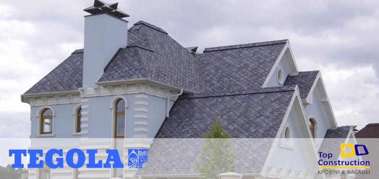 Гибкая черепица Тегола Альпин по привлекательной цене с доставкой по России