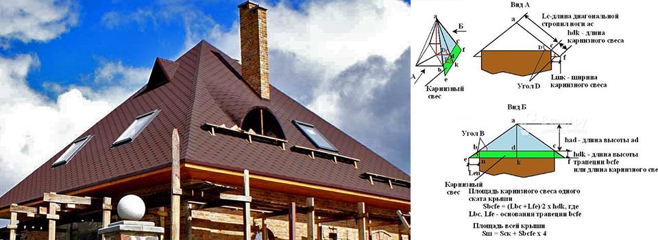 321 1 - Конструктор шатровой четырехскатной крыши
